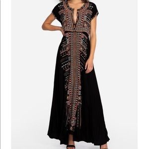 Johnny Was Effy Stretch Challis Boho Dress Sz M